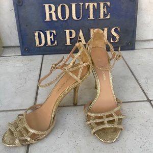 Badgley Mischka gold sandals